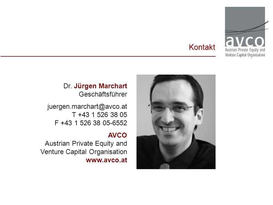 Kontakt Dr. Jürgen Marchart Geschäftsführer juergen.marchart@avco.at