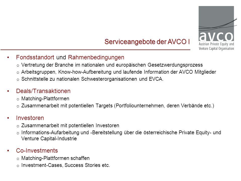 Serviceangebote der AVCO I