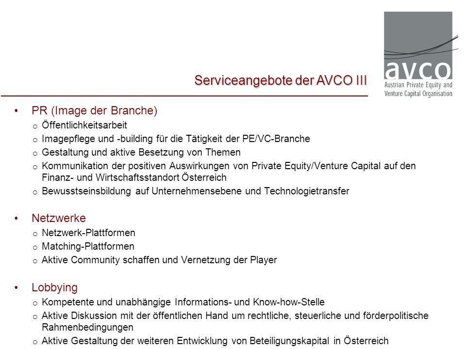 Serviceangebote der AVCO III