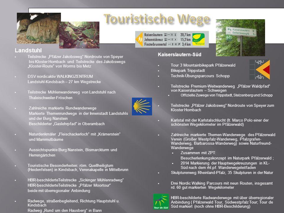 Touristische Wege Landstuhl Kaiserslautern-Süd
