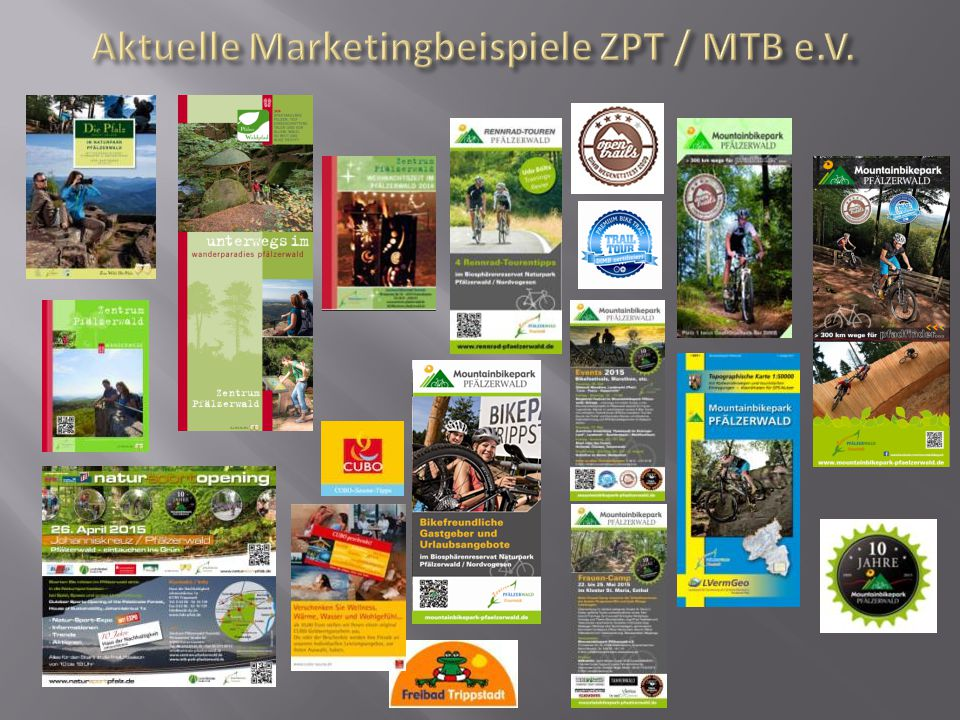 Aktuelle Marketingbeispiele ZPT / MTB e.V.
