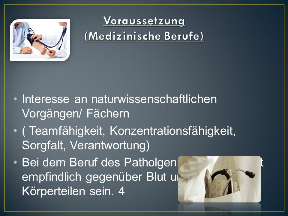 Voraussetzung (Medizinische Berufe)