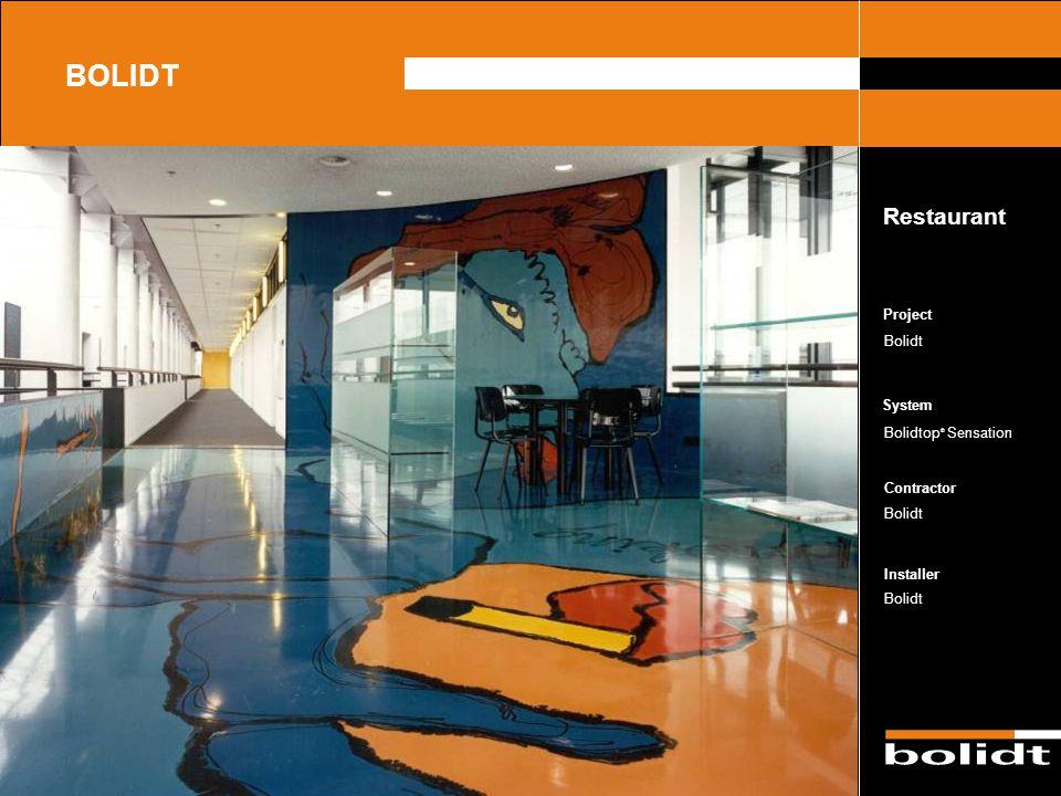BOLIDT Restaurant Project Bolidt Bolidtop® Sensation Bolidt Bolidt