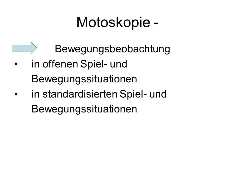 Motoskopie - Bewegungsbeobachtung in offenen Spiel- und