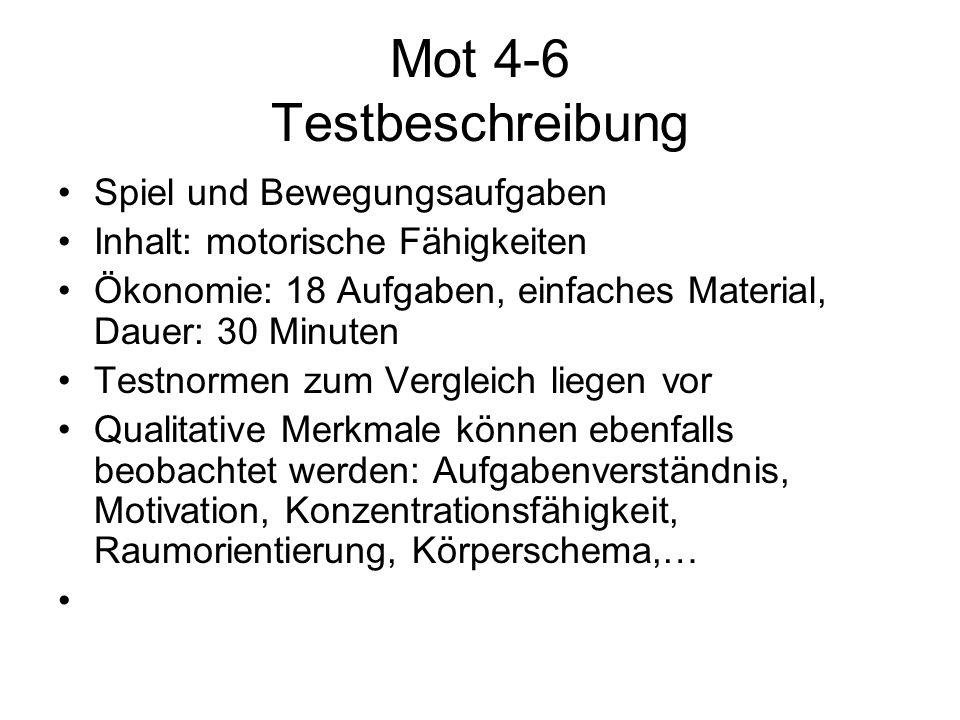 Mot 4-6 Testbeschreibung