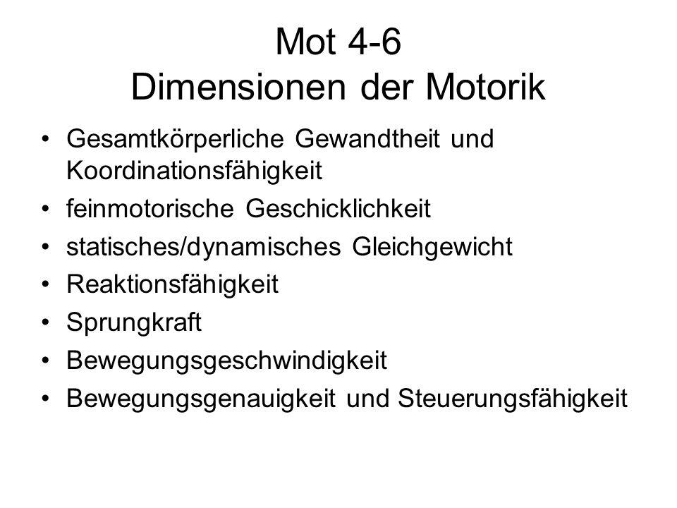 Mot 4-6 Dimensionen der Motorik