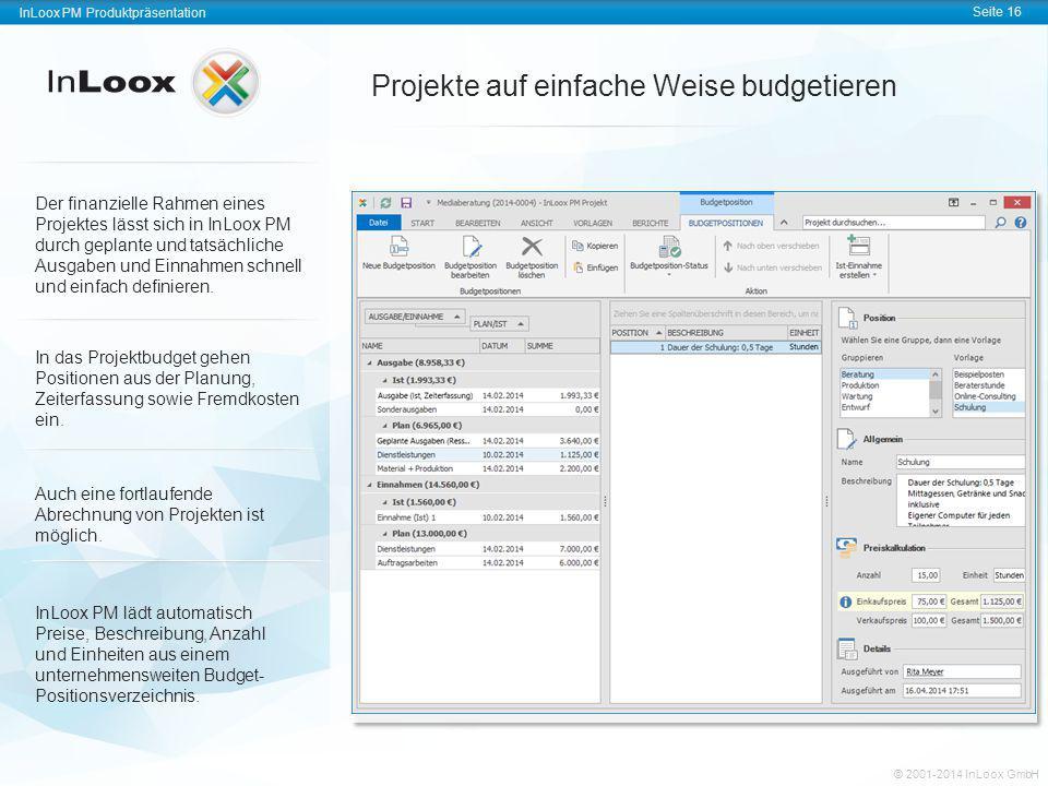 Projekte auf einfache Weise budgetieren