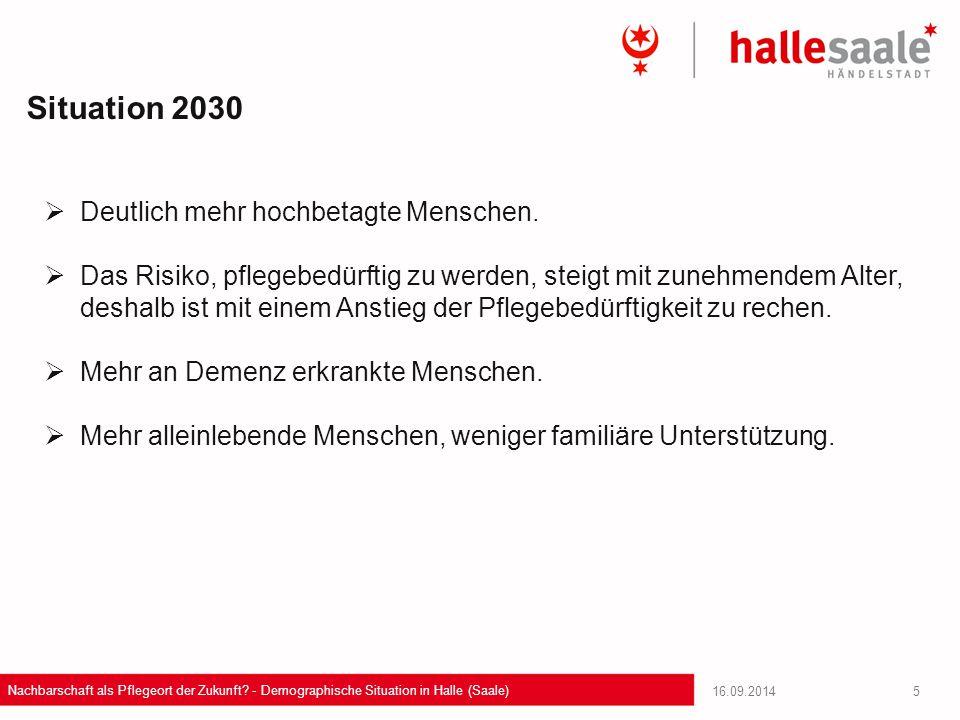Situation 2030 Deutlich mehr hochbetagte Menschen.