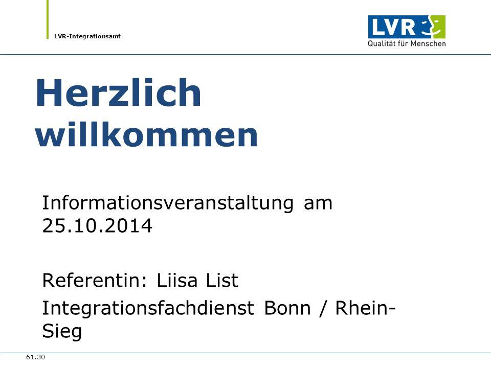 Herzlich willkommen Informationsveranstaltung am 25.10.2014