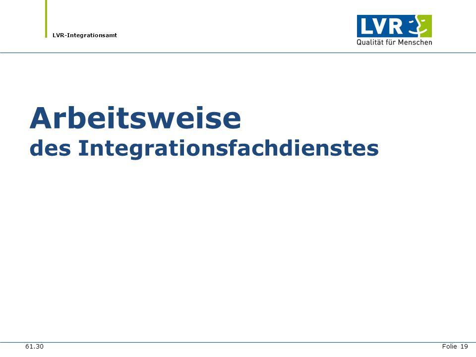 Arbeitsweise des Integrationsfachdienstes