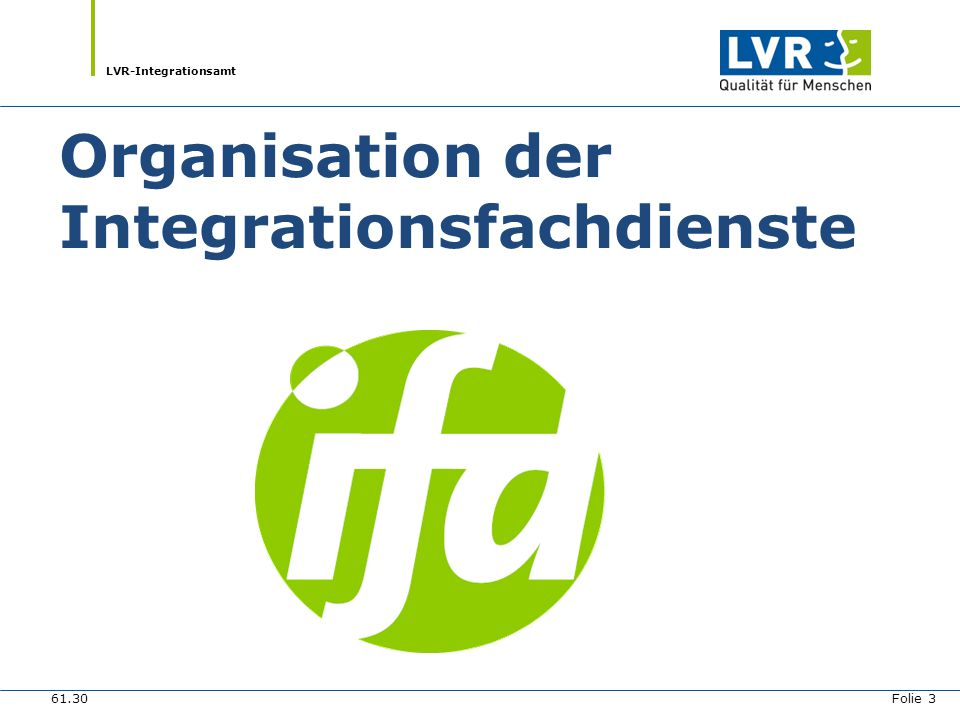 Organisation der Integrationsfachdienste