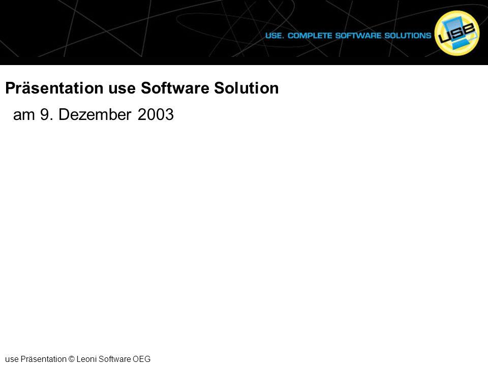 Präsentation use Software Solution