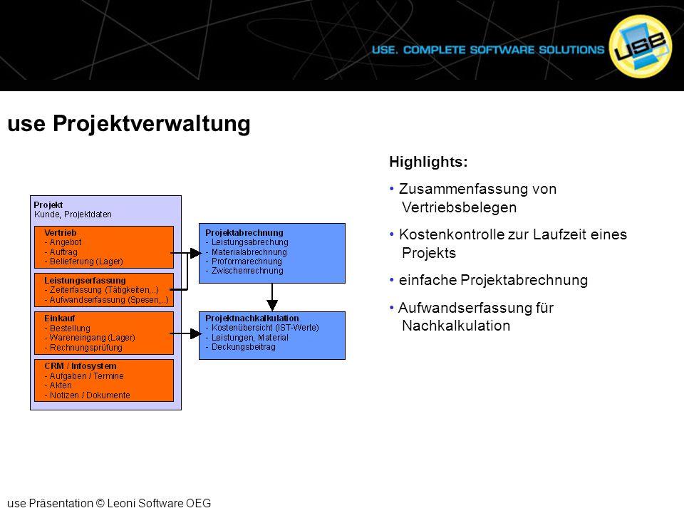 use Projektverwaltung