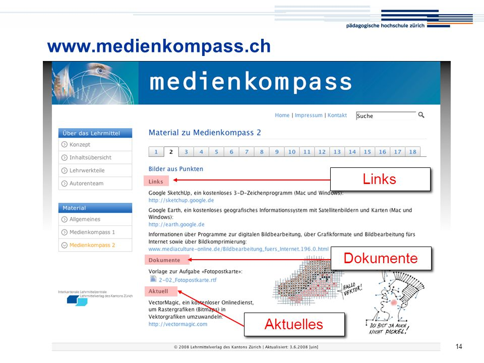 www.medienkompass.ch Links Dokumente Aktuelles