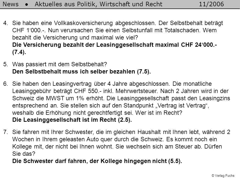 News ● Aktuelles aus Politik, Wirtschaft und Recht 11/2006