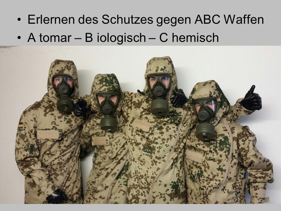 Erlernen des Schutzes gegen ABC Waffen