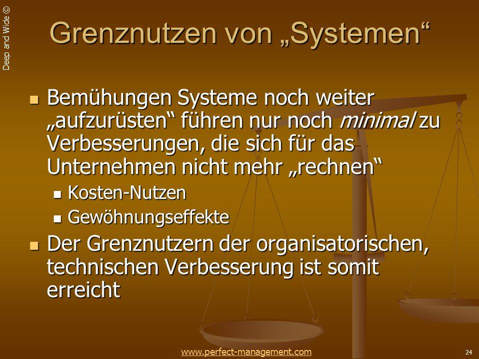 """Grenznutzen von """"Systemen"""