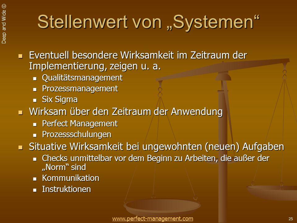 """Stellenwert von """"Systemen"""