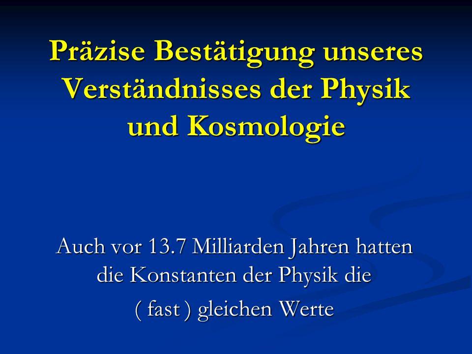 Präzise Bestätigung unseres Verständnisses der Physik und Kosmologie