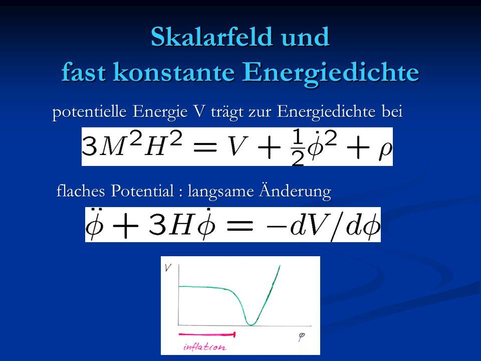 Skalarfeld und fast konstante Energiedichte