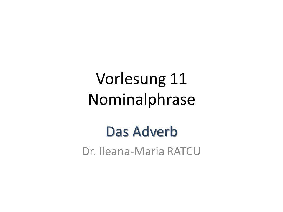 Vorlesung 11 Nominalphrase