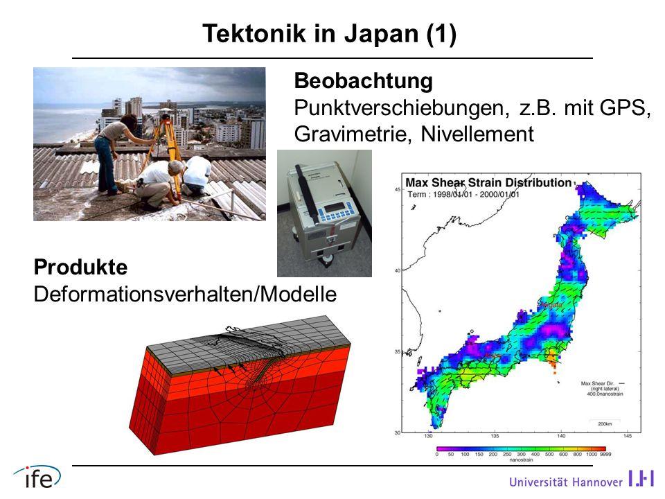 Tektonik in Japan (1) Beobachtung