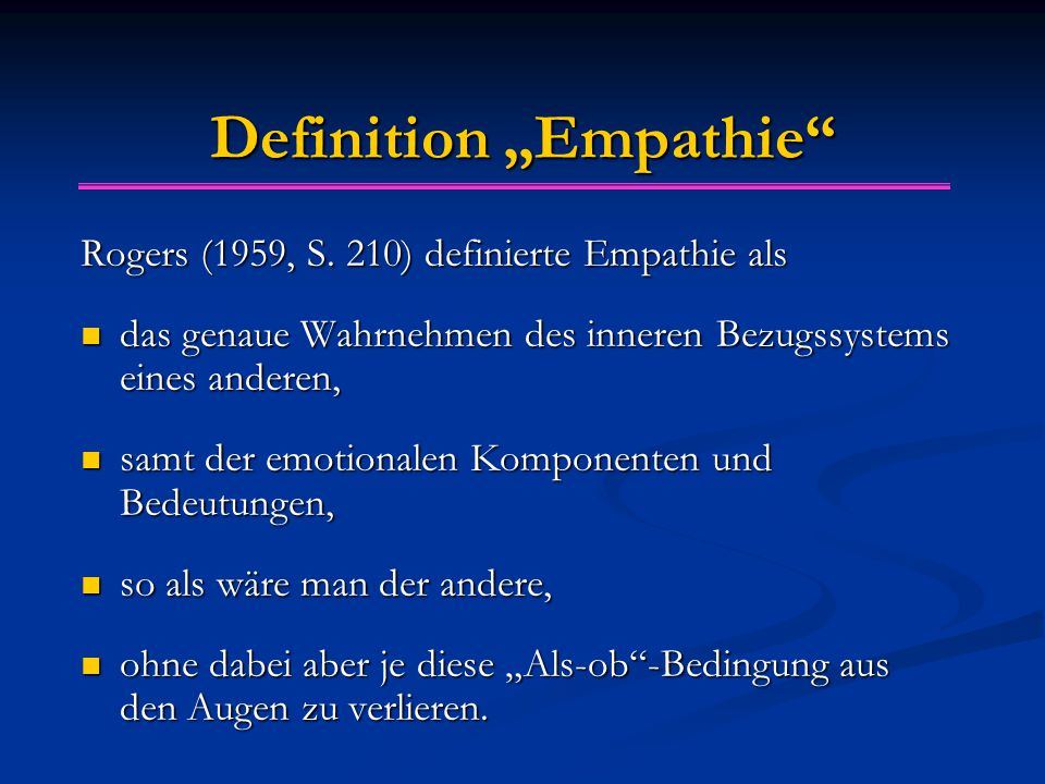 "Definition ""Empathie"
