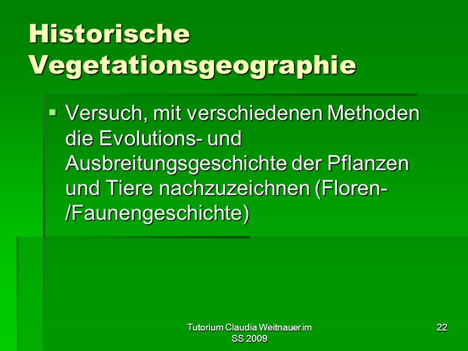 Historische Vegetationsgeographie