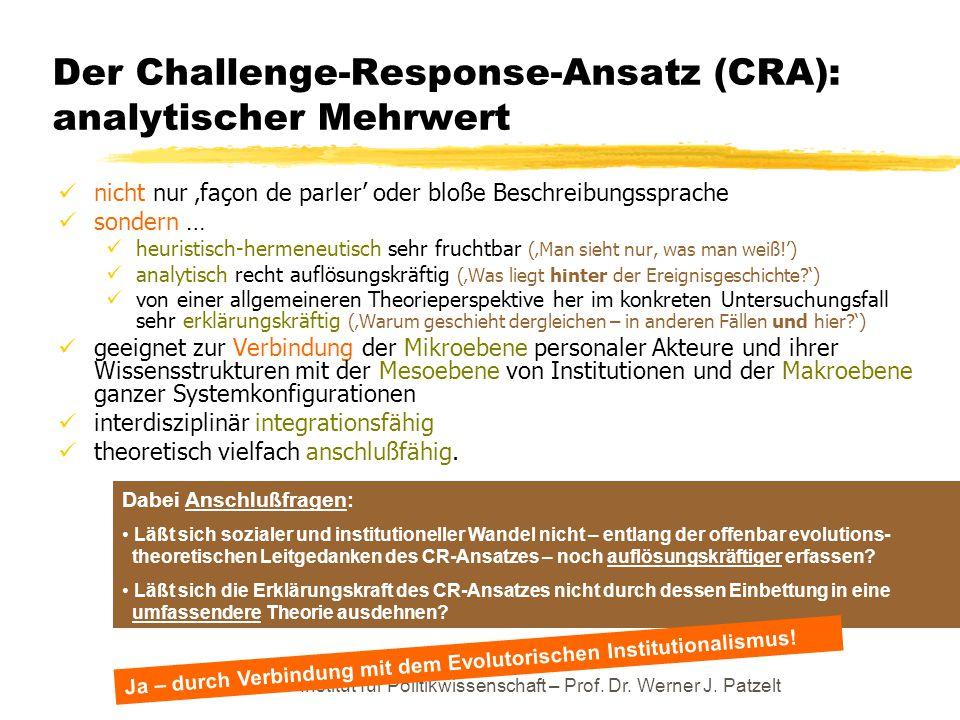 Der Challenge-Response-Ansatz (CRA): analytischer Mehrwert