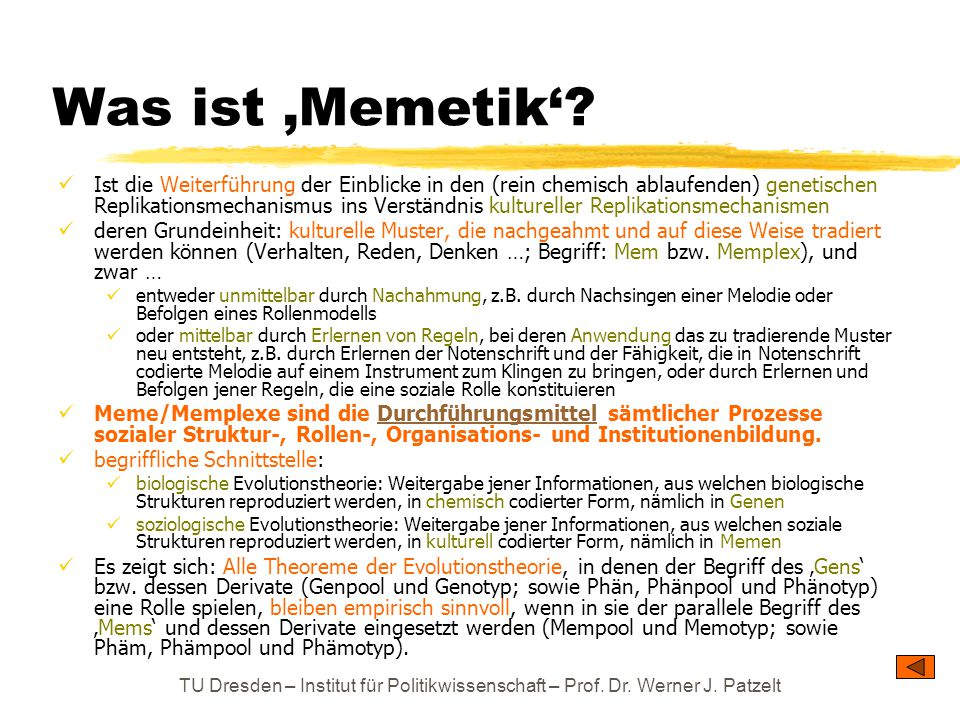 Was ist 'Memetik'