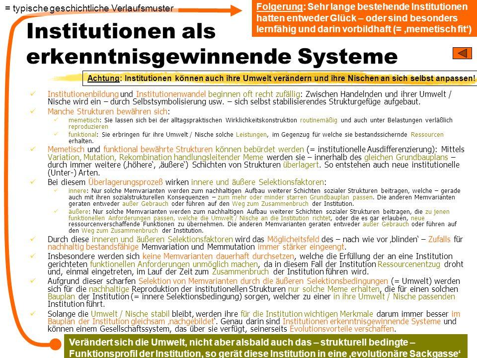 Institutionen als erkenntnisgewinnende Systeme