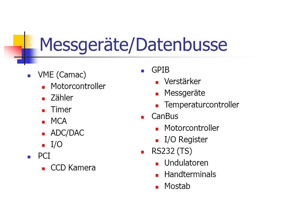 Messgeräte/Datenbusse