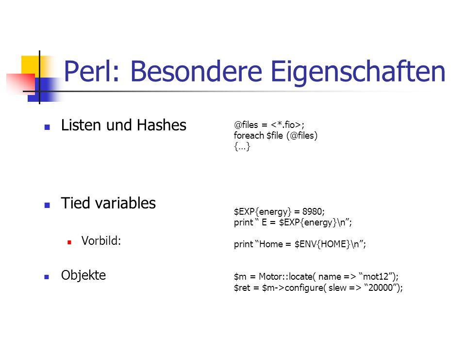 Perl: Besondere Eigenschaften