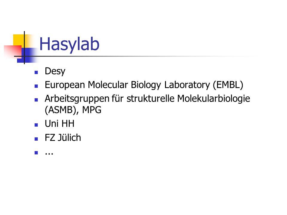 Hasylab Desy European Molecular Biology Laboratory (EMBL)