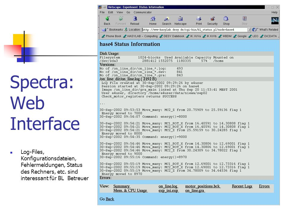 Spectra: Web Interface