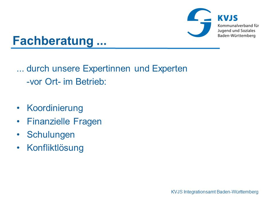 Fachberatung ... ... durch unsere Expertinnen und Experten