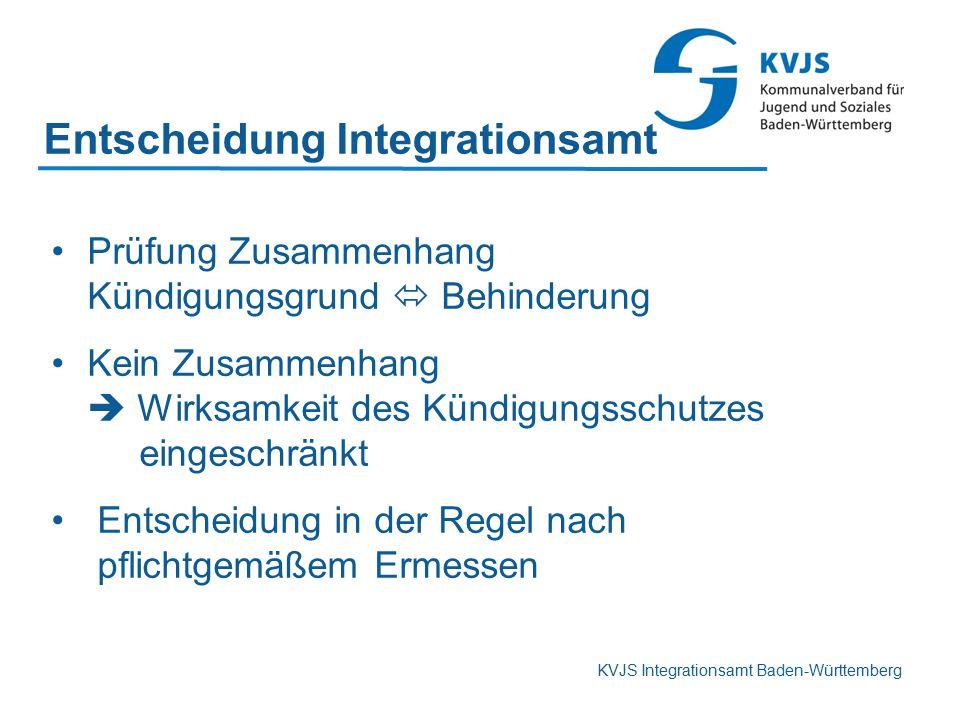 Entscheidung Integrationsamt