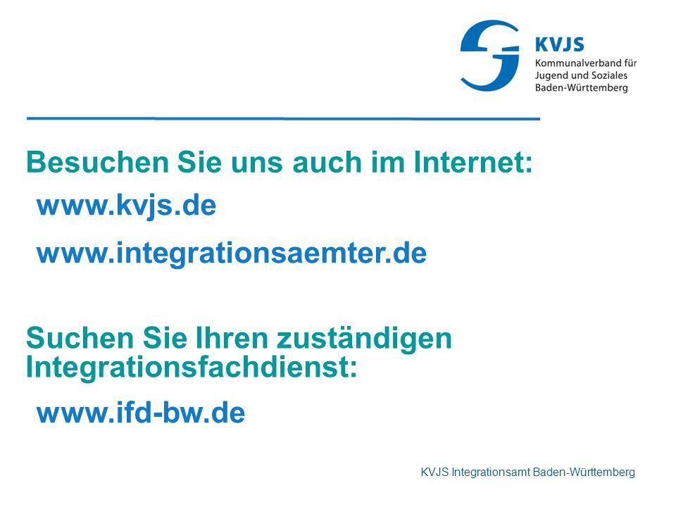Besuchen Sie uns auch im Internet: www.kvjs.de