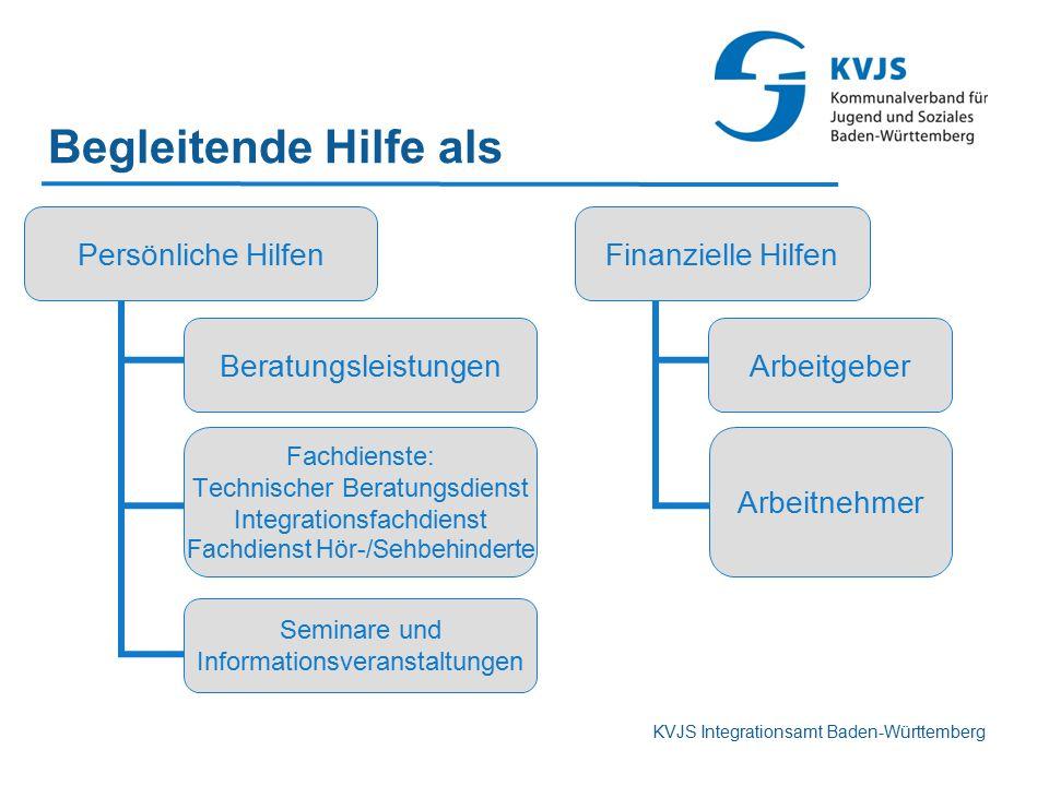Begleitende Hilfe als KVJS Integrationsamt Baden-Württemberg