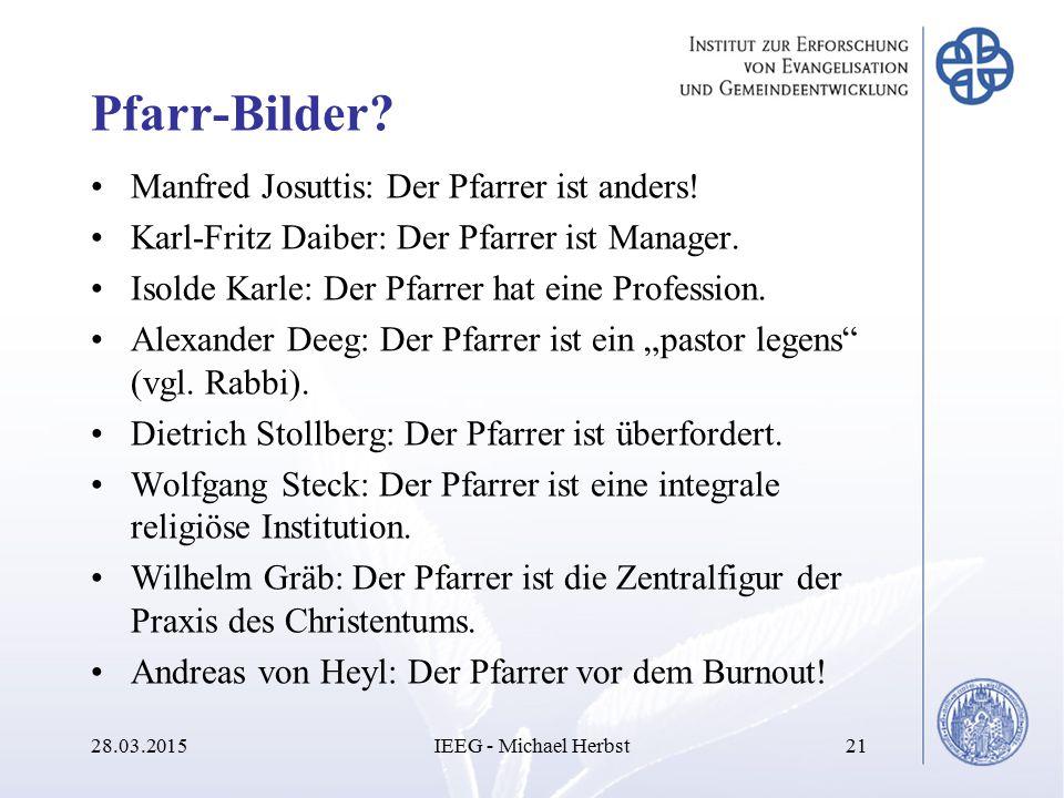 Pfarr-Bilder Manfred Josuttis: Der Pfarrer ist anders!