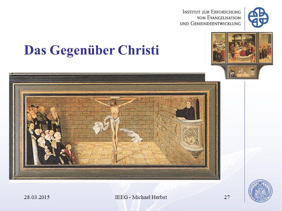 Das Gegenüber Christi 08.04.2017 IEEG - Michael Herbst