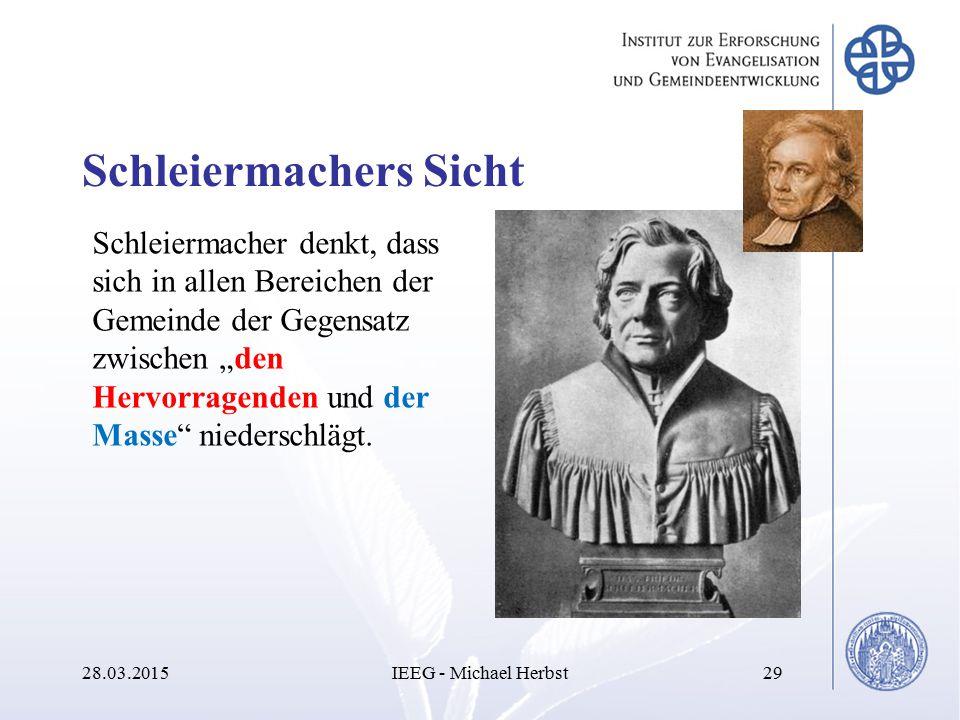 Schleiermachers Sicht