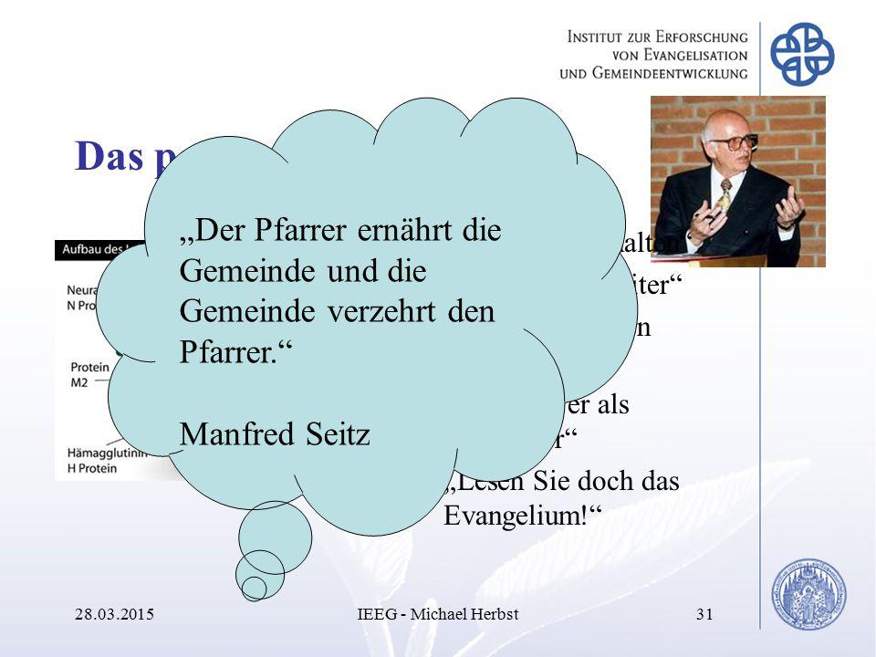 """""""Der Pfarrer ernährt die Gemeinde und die Gemeinde verzehrt den Pfarrer."""