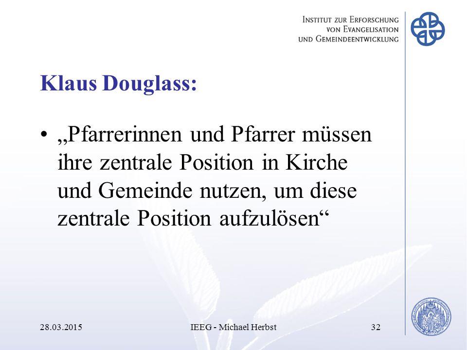 """Klaus Douglass: """"Pfarrerinnen und Pfarrer müssen ihre zentrale Position in Kirche und Gemeinde nutzen, um diese zentrale Position aufzulösen"""