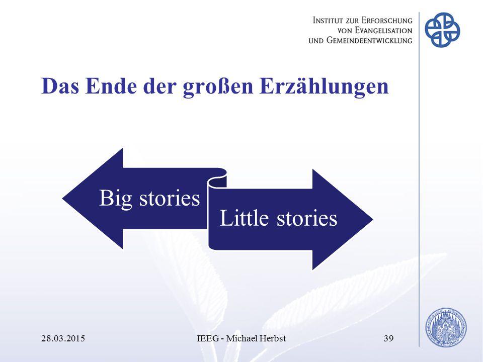 Das Ende der großen Erzählungen