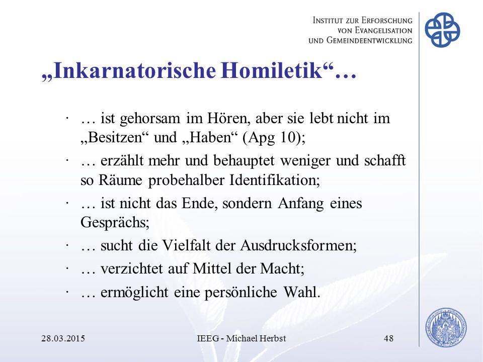 """Inkarnatorische Homiletik …"