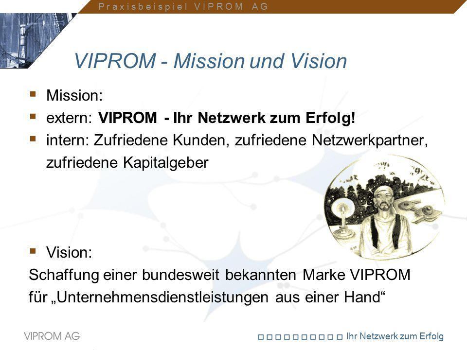 VIPROM - Mission und Vision