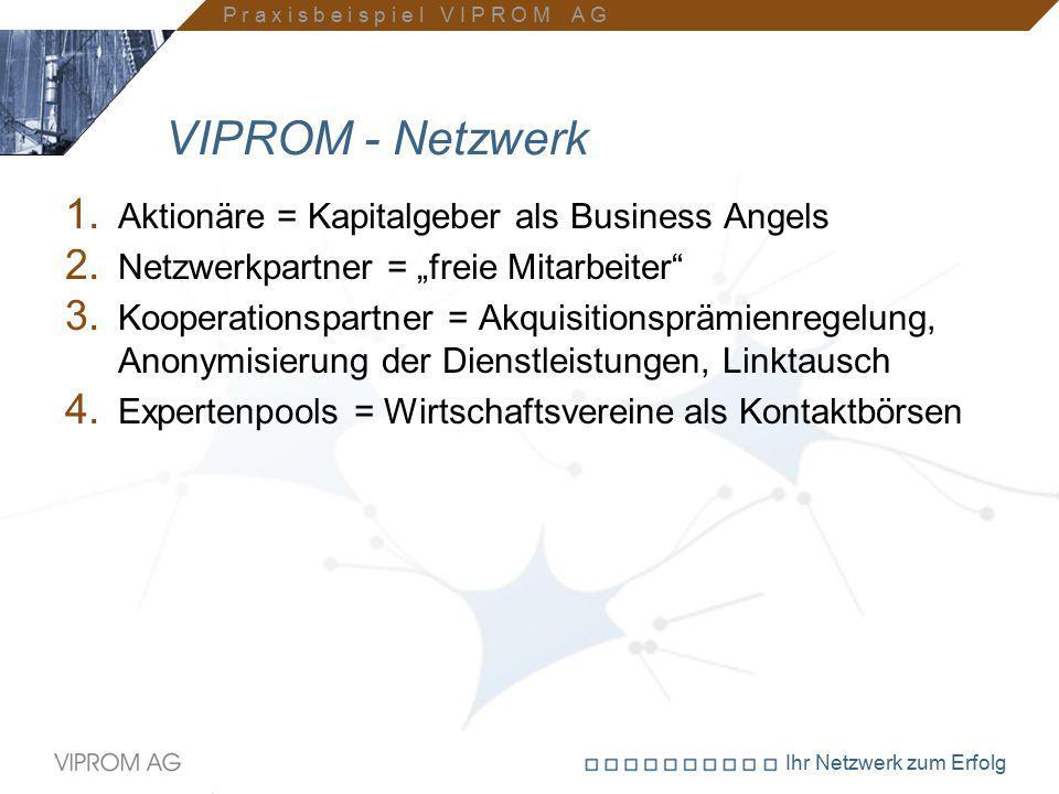 VIPROM - Netzwerk Aktionäre = Kapitalgeber als Business Angels