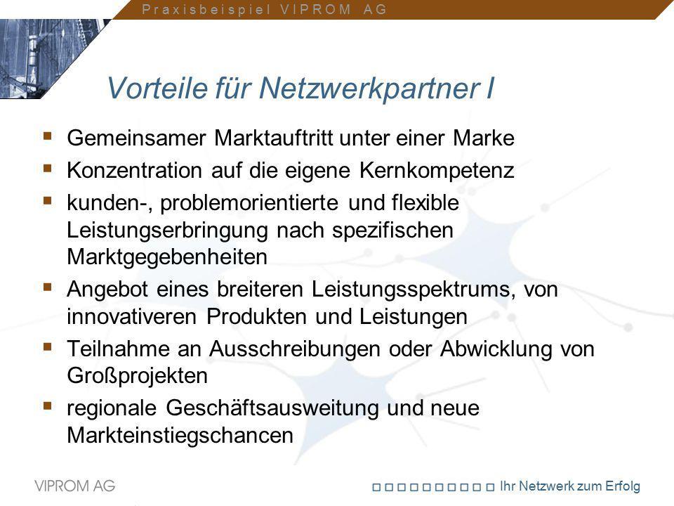 Vorteile für Netzwerkpartner I