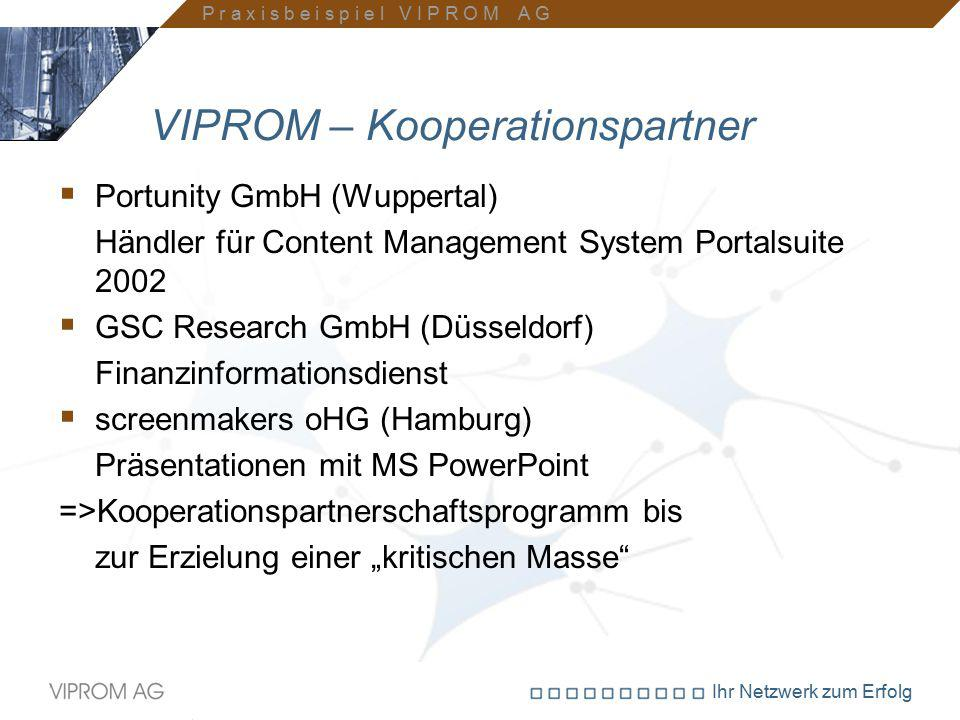 VIPROM – Kooperationspartner